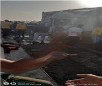 التصريح بدفن 6 أشخاص من ضحايا حادث تصادم «الطريق الأوسطي» بالبدرشين