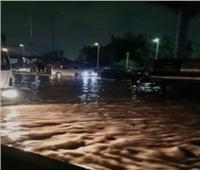 كثافات مرورية نتيجة كسر ماسورة مياه بالطريق الدائري