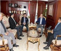 محافظ بني سويف يستقبل وزير الشباب لافتتاح فعاليات رياضية