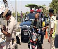 تحرير 2893 مخالفة لقائدي الدراجات النارية لعدم ارتداء الخوذة