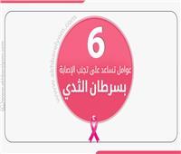 إنفوجراف| 5 عوامل تساعد على تجنب الإصابة بسرطان الثدي