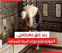 بعد إغلاقها لمدة عام كامل.. 8 ضوابط لفتح دورات المياه بالمساجد