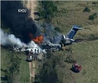 فيديو   حريق هائل بطائرة ركاب أمريكية