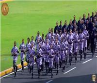 خريجات كلية الشرطة يشاركن في عروض حفل التخرج أمام الرئيس السيسي | فيديو