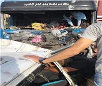 صور مأساوية ترصد لحظات لانتشال جثامين ضحايا الطريق الأوسطي