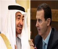 ولي عهد أبوظبي يتلقى اتصالًا هاتفيًا من الرئيس السوري