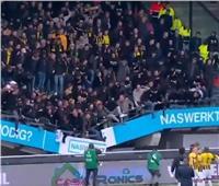انهيار مدرج رياضي في ملعب بهولندا .. فيديو
