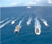 القوات البحرية تحتفل بعيدها الـ54 بتنفيذ عدد من التشكيلات البحرية والجوية