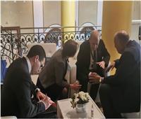 شكري يلتقي نظيره الفرنسي جان إيف لودريان في طرابلس