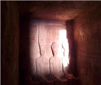 تعامد الشمس على وجه رمسيس الثاني في معبد أبو سمبل بأسوان.. غداً