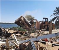 إزالة فورية لـ 13 حالة تعدي على أراضي تابعة لحماية النيل بأسيوط