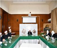 وزير الأوقاف يلتقي أعضاء القافلة الدعوية الثانية المتوجهة إلى دولة السودان