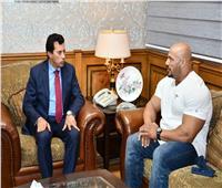 وزير الرياضة يستقبل بيج رامي الفائز بلقب مستر أولمبيا