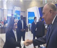 وزير الخارجية يبحث مع نظيرته الليبية جهود التسوية السياسية الشاملة للأزمة الليبية
