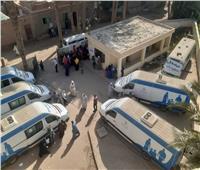 الكشف وتوفير العلاج لـ 1600 مواطنا في قافلة طبية ببني سويف