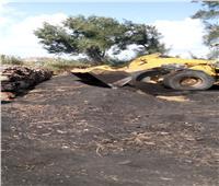 إزالة 20 حالة تعد بالبناء على الأراضي الزراعية بالبحيرة