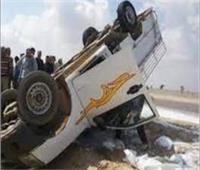 إصابة 25 شخصا إثر انقلاب سيارة ربع نقل بالمنيا