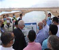 وزير النقل يتفقد مواقع العمل بمشروع تطوير ميناء العين السخنة