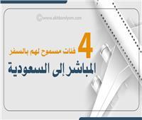 إنفوجراف| 4 فئات مسموح لهم بالسفر المباشر إلى السعودية