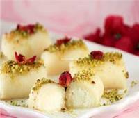 طريقة عمل حلاوة الجبن السورية الأصلية بالسميد والقشطة