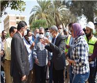 محافظ المنيا يتابع معدلات تنفيذ مشروعات «حياة كريمة» بالعدوة