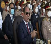 الرئيس السيسي: لن ننسى من ضحوا بأرواحهم لحماية مصر وشعبها