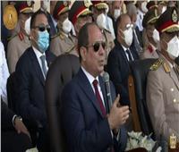 السيسي: «إحنا مسئولين أمام ربنا والشعب المصري بتجهيز الطلاب»