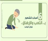 إنفوجراف  6 أسباب للشعور بالتعب والإرهاقطوال الوقت