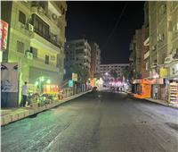 رصف شارعي زغلول والسيسي بحي الهرم   صور