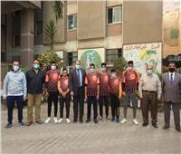 مدير تعليم المنوفية يلتقي فريق كرة القدم لطلاب مدارس التربيةالفكرية