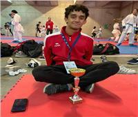 لاعب كاراتيه الزمالك يحصد فضية بطولة البحر المتوسط