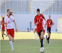 الشوط الأول   تعادل مصر وتونس في تصفيات أفريقيا للكرة النسائية