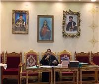 الأنبا صليب يلتقي بمجمع كهنة المحلة الكبرى