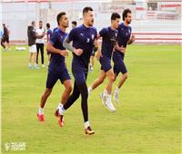 مران الزمالك| فقرة بدنية للاعبين في مجمع الصالات الدولية