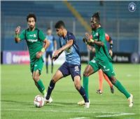 الدوري المصري  بيراميدز يتقدم على المقاصة في الشوط الأول