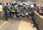 """فيديو  """"المرور"""": وفاة شخص وإصابة 10 آخرين في تصادم بطريق إسكندرية الصحراوي"""