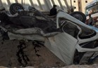 إصابة 7 في انقلاب سيارة ميكروباص بطريق السخنة