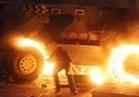 ضبط متهم حرق مدرعة شرطة في المنيا