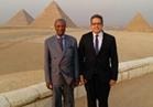 رئيس غينيا يزور الأهرامات