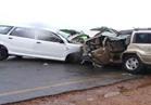 إصابة شخصين في حادثي تصادم بين 7 سيارات بطريق الأوتوستراد