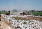 إزالة 50 حالة تعد على الأراضي الزراعية وأملاك الدولة بنجع حمادي