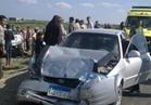 كثافات مرورية بسبب مصادمة بين 4 سيارات بطريق الأوتوستراد