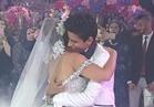 صور| حمدي الميرغني وإسراء عبدالفتاح يفتتحان زفافهما برقصة «سلو»