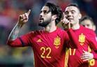 شاهد.. إيسكو يمنح إسبانيا التقدم بهدفين رائعين على إيطاليا
