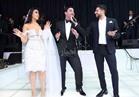 صور| حماقي وبوسي يتألقان بحفل زفاف «مصطفى وهونادة»