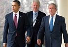شاهد.. أوباما وكلينتون وبوش في افتتاح كأس الحرية الوطنية للجولف