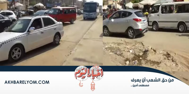 فيديو  «الشارع يضرب يقلب».. أعمال صيانة تتسبب في شلل مروري بمدينة نصر