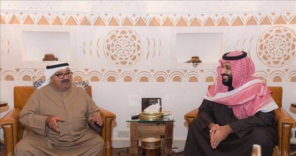 الامير محمد بن سلمان يلتقي وزير الدفاع الكويتي