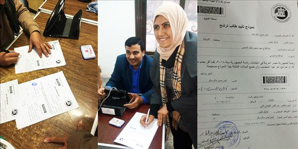 خلال توثيق أحد المواطنين التوكيل الخاص به للانتخابات