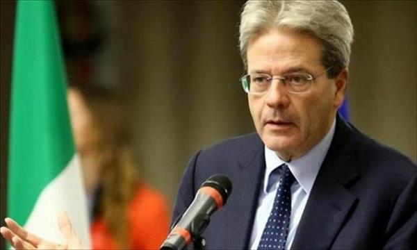 رئيس الوزراء الايطالى باولو جنتيلونى